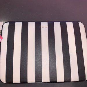 Kate Spade NY stripes universal laptop sleeve, NWT